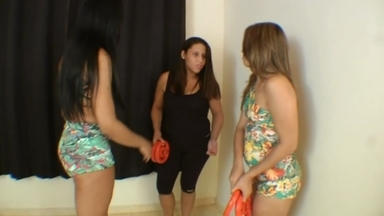 LESBIAN / Lesbian Domination Ass Pussy Licking By Maiara Lima And Slaves Ariel- Vanessa Camargo