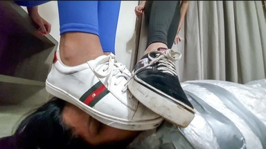 Trample And Kick Face- The Perfect Feets By Top Models Izabela And Yasmin Part 1