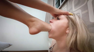 Swallow My Amazing Feet Little Blonde Slave By Top Model Moana And Marilla Castilo