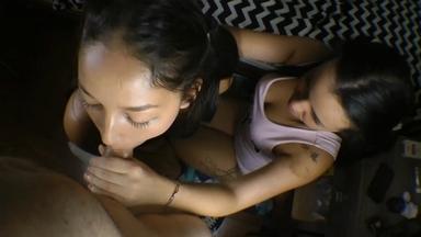 Hot Kisses Take At The Penis By Larissa And Paulinha