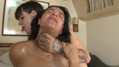 Face Sitting Real Fear By Jully Delarge And Slave Fabi Costa